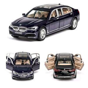 BMW 760Li 7 Limousine 1:24 Scale Diecast Car Metal Model Pull Back Boy Toy 22cm