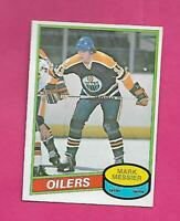 1980-81 OPC  # 289 OILERS MARK MESSIER  ERROR ROOKIE  EX-MT CARD  (INV# D0514)