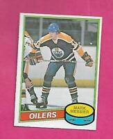 1980-81 OPC  # 289 OILERS MARK MESSIER  ERROR ROOKIE  EX-MT CARD  (INV# D0514)