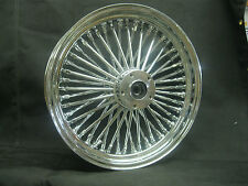 "Chrome Ultima 48 King Spoke 18"" x 3.5"" Rear Wheel for Harley and Custom Models"