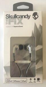 Skullcandy Fix Supreme Sound Hi-Definition Earbuds in White/Chrome - New
