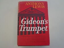 """Gideon's Trumpet by Anthony Lewis HBDJ 1964 1st Ed. Civil Rights """"W"""" Printing"""