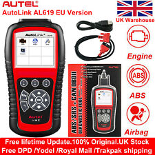 Autel Autolink AL619 OBD2 Diagnostic Tool CAN Car Fault Code Reader ABS Airbag