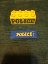Vintage Lego Duplo Bricks Police Signs