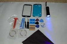 Samsung Galaxy S3 i9300 i9305 Front Glass Screen Repair Kit Pebble Blue Uv Torch