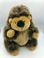 Original Toys R Us Animal Alley Brown Hedgehog Plush Kids Soft Stuffed Toy Doll
