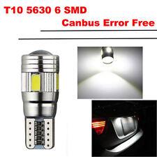 T10 501 W5W 6 SMD BOMBILLA Car LED Blanco Puro Lámpara Para Coche Parking Lamp