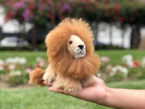 Handmade Alpaca Toy Lion, Alpaca Fur Mini Lion, Peruvian Soft Toy, Gift Ideas