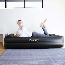 Bestway Flocked Premium Inflatable Single Air Bed Mattress + Sidewinder Air Pump