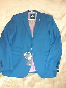 Marc Darcy 3 piece suit jcket 42r trousers 36 waistcoat 42 r