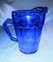 "Vintage Hazel Atlas Faded Shirley Temple Cobalt Blue Creamer 4 1/4"" X 3"""