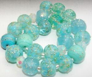 "Sistersbeads ""H-Fairy Dust"" Handmade Lampwork Beads"