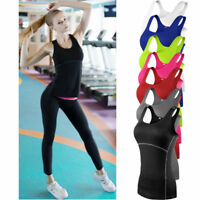 UK Women Gym Sports Vest Wicking Cool Dry Running Breathable Racer Back Tank Top