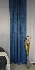 Fertigvorhang Neutex Vintage Schal Store Blickdicht Kräuselband 137/245 Blau
