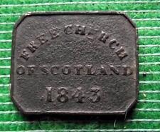 1843 Free Church of Scotland Pewter Communion Token
