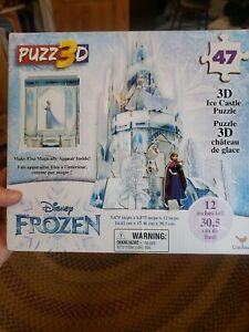 NEW-Disney FROZEN 3D Elsa Hologram Ice Castle Puzzle 47 Pcs 12 in Tall Ages 3+