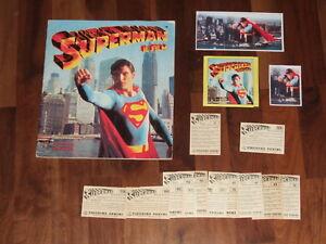 Superman The Movie 1978 near-Complete Panini Sticker Album & with a Twist ...