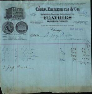 1905 Chicago Receipt Chas Emmerich & Co Jay peak