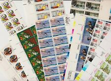 U.S. Discount Postage - FACE $ 24.00 - Plate Number strips, MNH