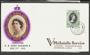 VIRGIN ISLANDS 1953 CORONATION COVER