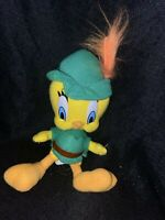 Vintage Looney Tunes Tweety Bird Robin Hood Plush Toy 1997