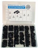 """HP-270 Flush Hole Plug Kit 250 Pieces Fits 1/4"""" - 3/4"""" Diameter Holes PDR"""