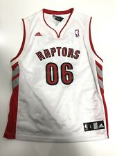 Toronto Raptors Jersey Youth Large 14/16 White 2006 Adidas