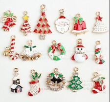 12pcs Christmas Santa Claus mix Metal Charm pendants DIY Jewellery Making crafts