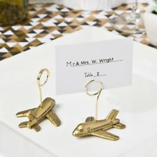 100 Airplane Place Card Holder Wedding Bridal Shower Party Table Favors