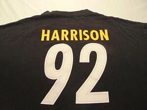 Pittsburgh Steelers #92 Harrison Men's Reebok Cotton T-Shirt NFL 2XL GUC