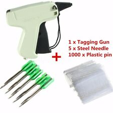 Clothes Garment Sock Price Label Tagging Tag Gun+1000 Tag Barbs + 5 Needles