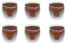 Set of 6 Nounten Clear Glass Contemporary Multicoloured 300ml Wine Juice