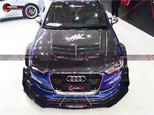 2013-2016 Audi S3 DP Style Carbon Fiber Front Lip Splitter & Canards Body Kit