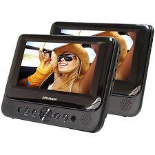 """Sylvania 7"""" Dual Screen Portable DVD Player Black"""