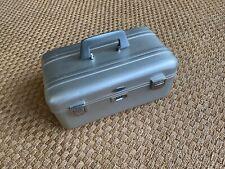 Vintage Zero Halliburton Cosmetic Train Aluminum Case with combo lock