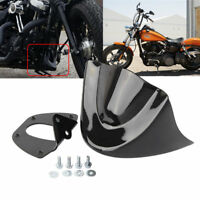 Front Chin Spoiler Air Dam Fairing Windshield Mudguard For 2006-17 Harley Dyna