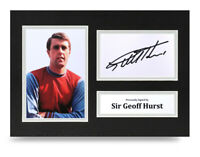 Sir Geoff Hurst Signed A4 Photo Display West Ham United Memorabilia Autograph