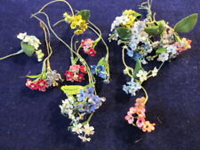 """Vtg Millinery Flower Collection Many Colors Pink Forget me Not 3/8"""" German H3879"""