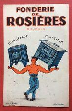 CPSM. Fonderie de Rosieres. Bourges. Publicité. Chauffage. Cuisine. 1932.