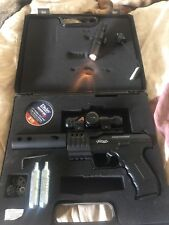 Walther Nighthawk co2. .177 pistol 2 magazines, laser, tactical flashlight