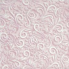 4x Paper Napkins -Classic 3D Pink- for Party, Decoupage Craft