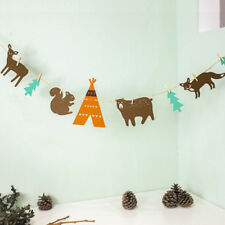 Woodland Forest Animal Bunting Felt Banner Garland Birthday Party Decoration