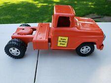 Vintage Pressed Steel 1960's Tonka Orange Semi Cab/Tractor. Repaint.