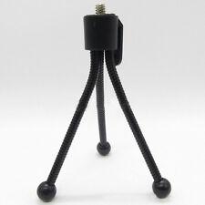 schwarz Mini Klein biegbare flexibel Spinne Bein Stativ Halterung für Kamera