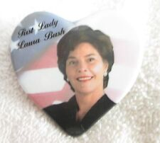 George W Bush Presidential Candidate Pin 2000 - First Lady Laura Bush