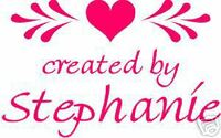 UNMOUNTED PERSONALIZED 'CREATED BY'  RUBBER STAMPS C100