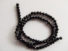 100pz  perline in vetro  4mm colore nero bijoux