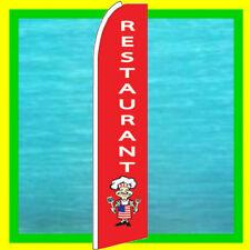 RESTAURANT BANNER FLAG Advertising Sign Feather Swooper Bow Flutter Ad Flag