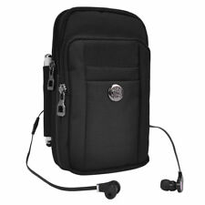Black Tactical Military Phone Pouch Holster Case Shoulder Bag for iPhone 8 Plus