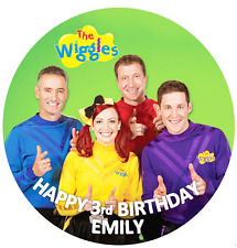THE WIGGLES BIRTHDAY Personalised Edible Icing Cake Topper Decoration Images